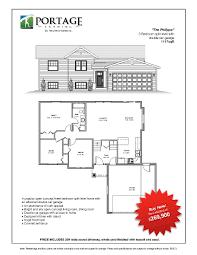 bi level floor plans with attached garage portage landing plans u0026 pricing