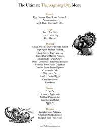 thanksgiving day menus the ultimate thanksgiving day menu