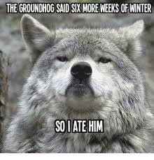 Groundhog Meme - the groundhog said six more weeks of winter so late him meme on