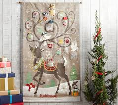 advent calendar reindeer painted advent calendar pottery barn kids