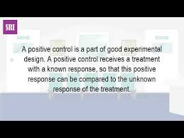 good experimental design what is the definition of a positive control youtube