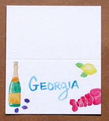 Flat Invitation Cards Watercolored Summer Party Invitation Menu Bar Card And Place