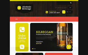 food and beverages shopify template