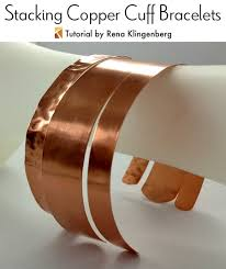 copper jewelry bracelet images Stacking copper bracelets tutorial jewelry making journal jpg