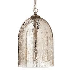 Mercury Glass Pendant Light Mercury Glass Bell Pendant Silver Threshold Mercury Glass