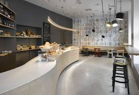 Modern Cafe  This Modern Cafe Features The Whole Wall Made Of - Modern cafe interior design