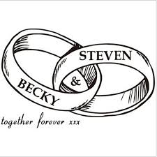 Make Wedding Ring by Do You Want To Make Your Name In The Wall Stickers Creative Custom