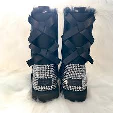 customise your ugg boots for free this autumn global blue bling uggs bling bailey bow uggs custom ugg boots sparkly