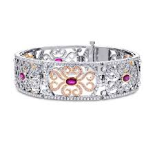 rose gold bracelet diamonds images Extraordinary ruby pink diamond bracelet sku 181465 10 61ct tw jpg