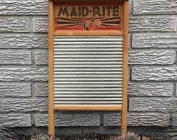 Vintage Home Decor Nz Wooden Washboard Etsy Nz