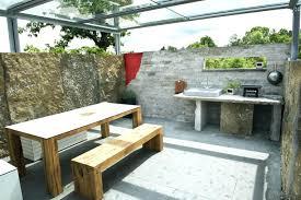 cuisine de jardin en photo cuisine exterieure jardin cuisine exterieure bois cuisine