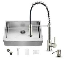 Kitchen Sink And Faucet Sets Vigo Undermount Farmhouse Stainless Steel 33 In Single Basin