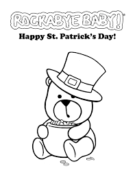 saint patrick u0027s day coloring pages for kids free printable