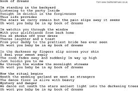 Backyard Party Lyrics Bruce Springsteen Song Book Of Dreams Lyrics
