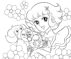 lydie with pets coloring pages for kids printable free coloing