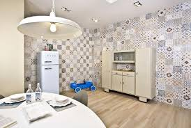 Modern Tile Designs Accentuating Home Interiors With Patchwork - Living room wall tiles design