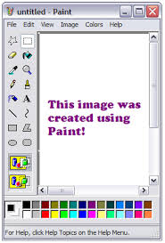 using print screen and paint to create an image to put into word