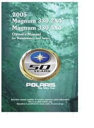 polaris offroad vehicle magnum 330 4x4 user guide manualsonline com