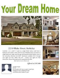 your dream home free flyer template by hloom com real estates
