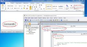 ms office word template executing vba macro on a graphical