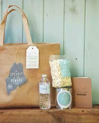 welcome bags for weddings and s rustic wedding in maine martha stewart weddings