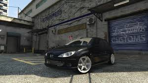 peugeot 206 gti peugeot 206 gti handling speed u0026 sound fixes gta5 mods com
