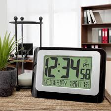Digital Atomic Desk Clock Digital Atomic Calendar Clock With Indoor Temperature Walmart Com
