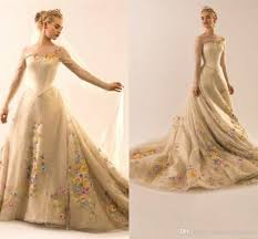 wedding dress ivory discount cinderella wedding dresses ivory sleeve a line tulle