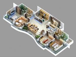 House Flat Design 4 Bedroom Apartment House Plans