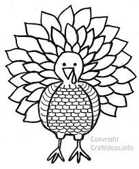 free thanksgiving turkey coloring book page craft pattern