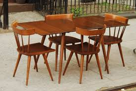 Paul Mccobb Dining Table Sold Paul Mccobb Compact Dining Set With Two Leaves And Four