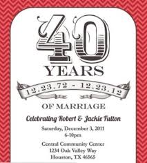 40th anniversary invitations 40 years anniversary invitation 40th wedding anniversary