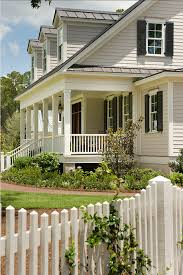 modern exterior paint colors for houses white picket fence