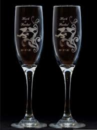 wedding glasses birds silhouette toasting wedding chagne glass flutes