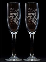 wedding glasses birds silhouette toasting wedding chagne glass flutes