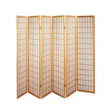 6 panel room divider brand new solid timber wooden black natural 6 panel fold screen