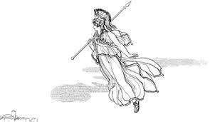 imagenes de zeus para dibujar faciles minerva athenea la diosa de la sabiduría y de la justicia