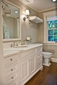 seaside shingle coastal home bathroom paint color is stonington