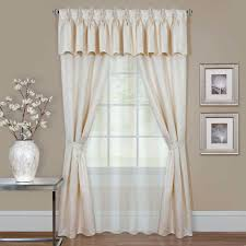 sheer curtains drapes window treatments the home depot sheer claire ivory window curtain set 55 in w x