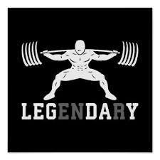 Fitness Motivation Memes - leg day legendary squat gym inspirational poster fitness