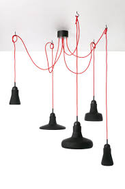 Suspension Luminaire Rouge by