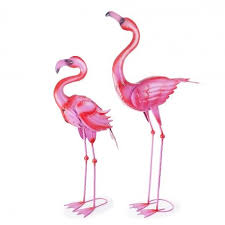 featherstone bishop the large metal garden flamingo ornaments