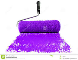 purple paint roller with purple paint stock photo image of purple 11158640