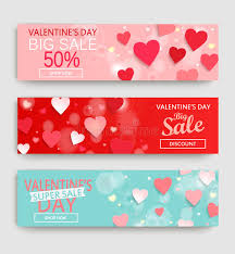 s day clearance banner set with discount for s day stock vector