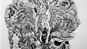 angel u0026 snake tattoo design speed drawing youtube