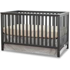 Fixed Side Convertible Crib Storkcraft Hillcrest 4 In 1 Convertible Crib Gray Walmart