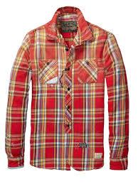 heavy flannel worked out shirt u003e mens clothing u003e shirts at scotch