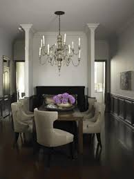 White And Wood Dining Chairs White Wall Painting And Dark Wood Combination Black Frame
