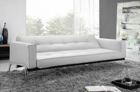 sofa faux leather sofa bed with drop table white faux leather