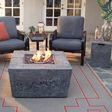 How To Make A Gas Fire Pit by Red Ember Glacier Stone 35 In Square Gas Fire Pit Table With Free